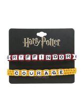 Harry Potter Gryffindor Courage Block Letter Bead Adjustable Bracelet 2 Pack Set