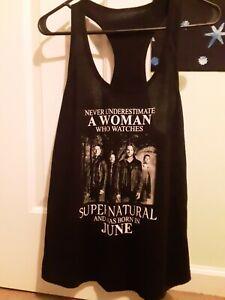 Supernatural Racerback top shirt Women's Girls