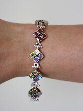 Free Shipping! Free Gift Wrap! 925 Sterling Silver Genuine Gemstones Bracelet