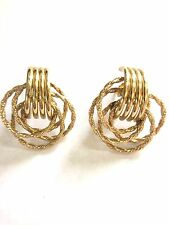 Women's 14 Kt. Yellow Gold Fashion Earrings with Posts in Rope  Design 4.8 Grams