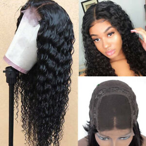 Brazilian High Density Lace Front Wig Synthetic Loose Curly Wave Long Black Hair