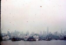 2 35mm Slides Ships New York City Harbor 1951 United States Lines Kodachrome