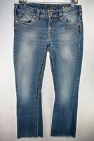 Silver Jeans Aiko Bootcut Womens Medium Wash Size 31x33 Stretch Meas. 31x30