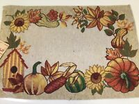 HAPPY HOLIDAYS PLACEMATS CHRISTMAS PLACEMATS 13 in x 19 in TAPESTRY PLACEMENT