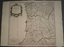 NORTHERN PORTUGAL 1751 ROBERT DE VAUGONDY ANTIQUE ORIGINAL COPPER ENGRAVED MAP