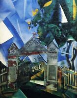 The Cemetery Gates by Marc Chagall. Canvas Abstract. USA only. 11x14 Print