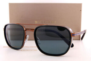 Brand New BVLGARI Sunglasses BV 5053 2061/R5 Matte Bronze/Blue Gradient Grey