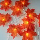 LED Light String Outdoor Christmas Garland Festive Decoration Fairy Maple Leave