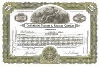 Continental Foundry & Machine Company > 1950 Steel old stock certificate share