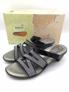 Naot Formal Womens Black Patent leather Sandal Size EUR 41 / 10 US