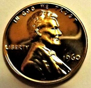 """1960-P(Large Date) PROOF Lincoln Memorial 1c GEM PROOF RED""""w/P Mint Tag""""FREE S&H"""