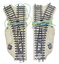 Marklin AC HO 1:87 Railway Layout ELECTRIC TURNOUTS PAIR M TRACK 5117 180mm NM!