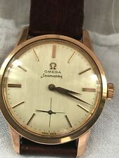 Vintage Omega Seamaster SS Rose Gold 35mm Case with Subsecond Manual Winding