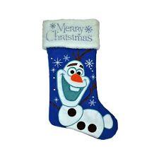 "Disney Frozen Olaf ""Merry Christmas"" holiday stocking - blue"