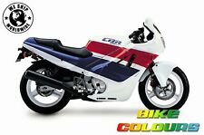 HONDA 3 COLOUR TOUCH UP PAINT KIT CBR600F 1989  - 1990 PEARL WHITE BLUE AND RED
