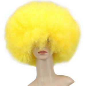 Funky Afro Wigs Disco Short Curly Fancy Hair Clown Cosplay Party Dance Costumes