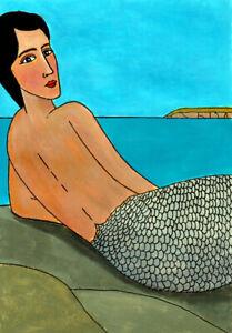 """""""Basking Mermaid""""   Cornwall/Cornish art"""