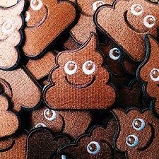 "Embroidered Happy Poo Patch (2"" x 2"") poop turd unchi unko kawaii emoji crap"