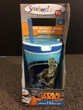 New listing New Star Wars Snackeez 2 in1 C3Po R2D2 snack cup
