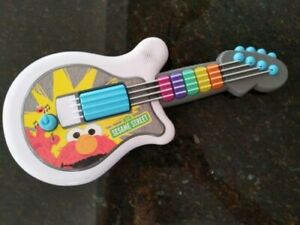 Sesame Street ELMO Let's Rock Guitar Hasbro 2010 Musical Interactive Toy WORKS!