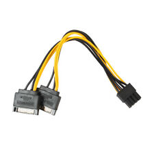 15Pin SATA Male To 8pin(6+2) PCI-E Male Video Card Power Supply Adapter Cable US