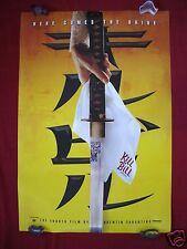 KILL BILL * 2003 ORIGINAL MOVIE POSTER MYLAR SWORD D/S TEASER QUENTIN TARANTINO