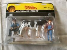 Woodland Scenics Accents Milkin' Ol' Bessie~G Scale A2553~Milk Cow~Farm~Barn