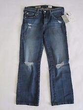 Anthropologie AG Destructed Mid-Rise Straight Jeans Size 29r NwT $225
