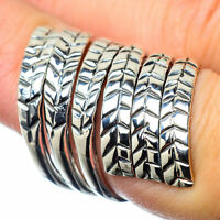Large Feather 925 Sterling Silver Ring Size 7 Adjustable Ana Co Jewelry R27782F