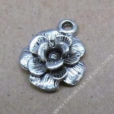 20pc Small Pendant Charm Retro Flower Pendant Tibetan Silver Accessories V219