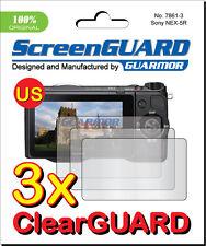 3x Clear LCD Screen Protector Guard Cover Film Sony Alpha NEX-5R NEX-5T NEX-5TL