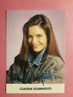 Claudia Scarpatetti, Original signierte Autogrammkarte, handsigniert, selten,TOP