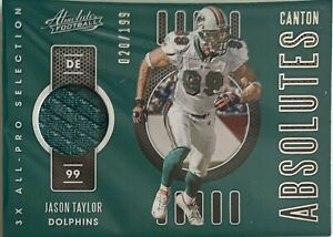 JASON TAYLOR (DOLPHINS) 2020 ABSOLUTE CANTON ABSOLUTES /199 [JERSEY]