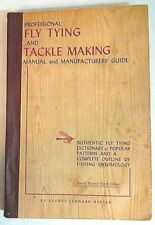 Professional Fly Tying &Tackle Making Manual Manufacturers' Guide 9th Ed. Herter
