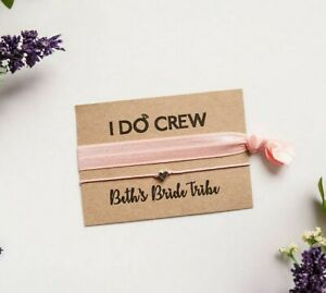 I Do Crew Wish Bracelet and elastic hair tie / wristband Hen Party favours