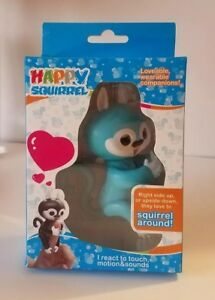 HAPPY SQUIRREL ELECTRONIC INTERACTIVE FINGER PET Blue FUN TOYS FOR KIDS