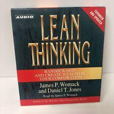 Womack & Jones LEAN THINKING Banish Waste & Create Wealth management CD Audio