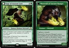 x1 Sage of Ancient Lore // Werewolf of Ancient Hunger MTG Shadows over Innistrad