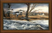 Rushing Rapids Framed Museum Canvas by Terry Redlin