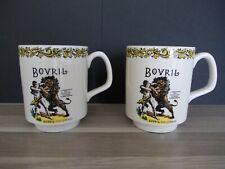 2er set Werbung Tasse vintage Bovril bei Lord Nelson Pottery England