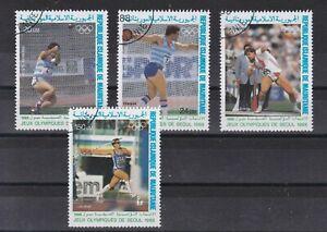 7458 Mauretanien 926-29 Olympiade 1988 gestempelt  (449)