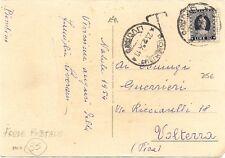 P7168   Livorno, Piombino, cartolina 1954 affranc, con marca da bollo lire 10