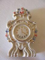 """Vintage Porcelain 4"""" Clock Occupied Japan"""