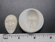 Large Goddess Face Polymer Clay Mold 32mm Open Eyes (#MD1115)