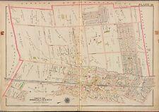 1913 G.W. BROMLEY BERGEN COUNTY NEW JERSEY HIGHLAND & TENAFLY STATION ATLAS MAP