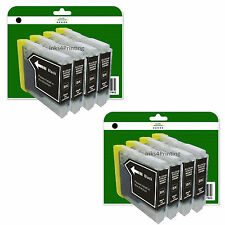 8 Black Ink Cartridges for Brother DCP-130C 135C 150C 330C 350C non-OEM LC970