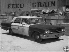 "1963 Ford Galaxie ""ANDY GRIFFITH SHOW"" Squad Car, B&W, Refrigerator Magnet"