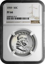 1959 50c Silver Proof Franklin Half Dollar NGC PF 66