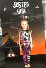 Halloween Dressing Up Costume Jester Girl/Harlequin 7-8 Yrs. Trick Or Treat.