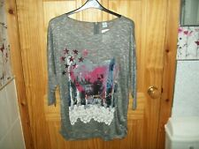 ***NEW MS MODE GREY DETAILED  TOP SIZE 18-24 APPROX [XL] ***